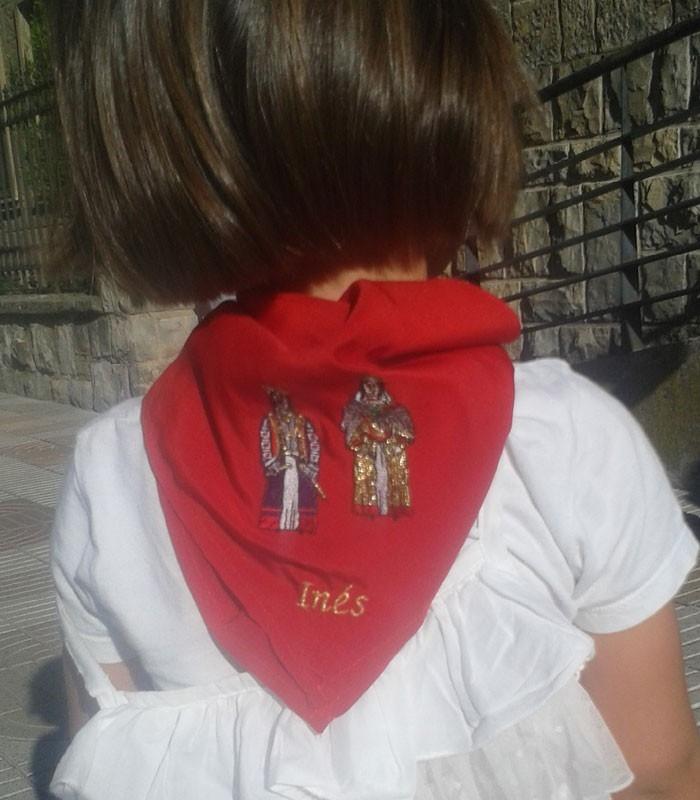 Pañuelico infantil bordado (+2 o 3 años). Comprar Pañuelico de fiestas o san fermín.