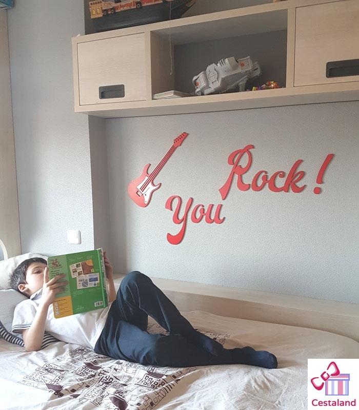 You Rock en Letras de madera. Letras de madera para niños y adolescentes