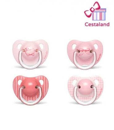 Chupete rosa suavinex. Regalos para niñas y recién nacidas