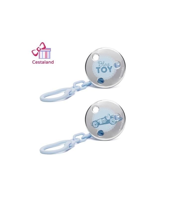 Broche cadenita jewel azul suavinex. Regalos para niños y recién nacidos