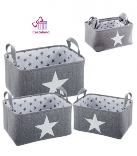Cesta Estrella Gris para tus Canastillas Personalizadas