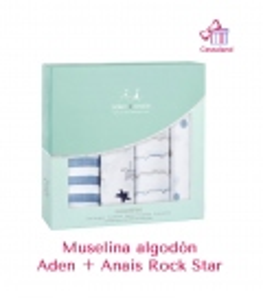 Muselina Aden + Anais algodón Rock Star. Comprar muselina bebé