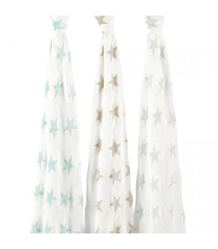Muselina Bambú Aden + Anais estrellas grande. Comprar muselina bebé