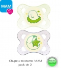 Chupetes Nocturnos MAM Night (0-6m) pack 2. Comprar chupetes MAM