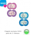 Chupetes Nocturnos MAM Night +6meses pack 2. Comprar chupetes MAM