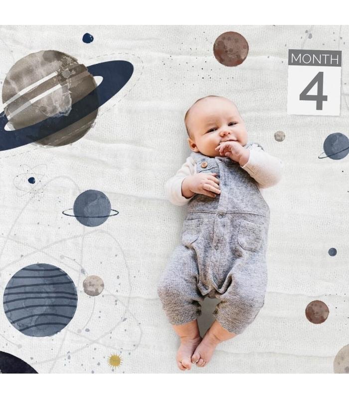 Muselina Manta para fotos del bebé Planetary