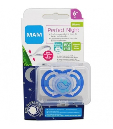Chupete Mam Perfect Night +6m . Comprar chupetes mam para bebé