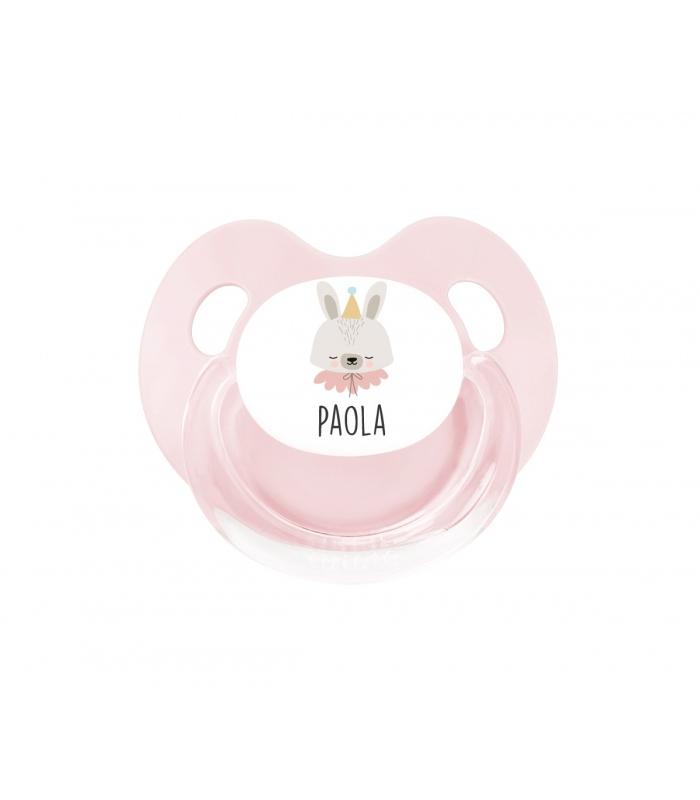 Chupete Personalizado Retro conejita Rosa
