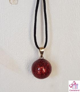 Llamador de ángeles Purpurina Roja. Bolas joyas para embarazadas. Regalos para embarazadas