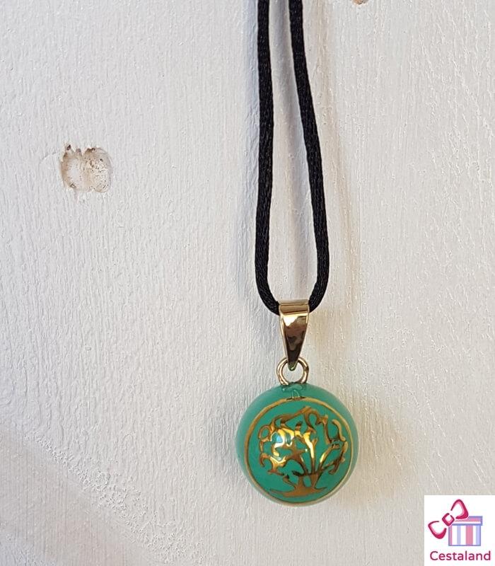 Llamador de ángeles Turquesa Árbol de la vida. Bolas joyas para embarazadas. Regalos para embarazadas