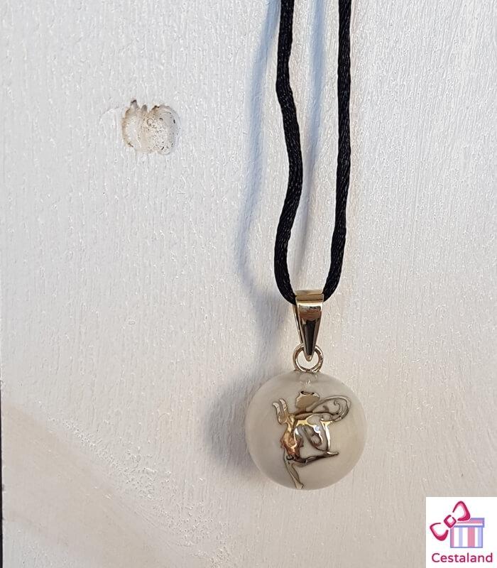 Llamador de ángeles Blanco hada. Bolas joyas para embarazadas. Regalos para embarazadas