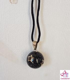 Llamador de ángeles Purpurina Negro. Bolas joyas para embarazadas. Regalos para embarazadas