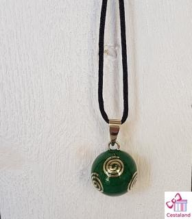 Llamador de ángeles Verde Caracoles. Bolas joyas para embarazadas. Regalos para embarazadas