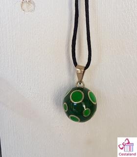Llamador de ángeles 2 verdes. Bolas joyas para embarazadas. Regalos para embarazadas
