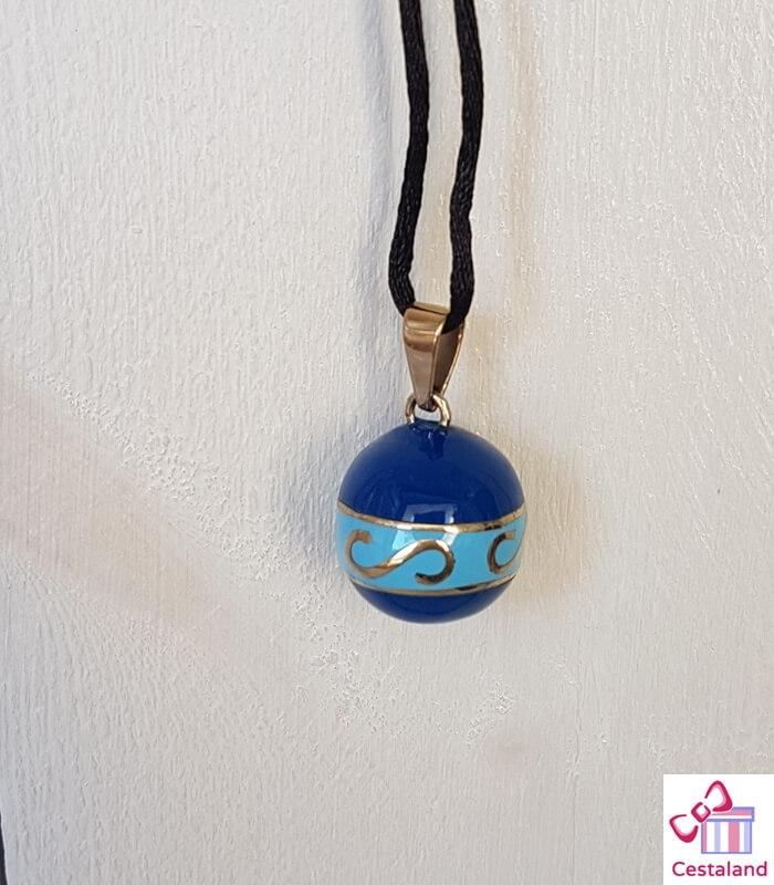 Llamador de ángeles 2 azules. Bolas joyas para embarazadas. Regalos para embarazadas