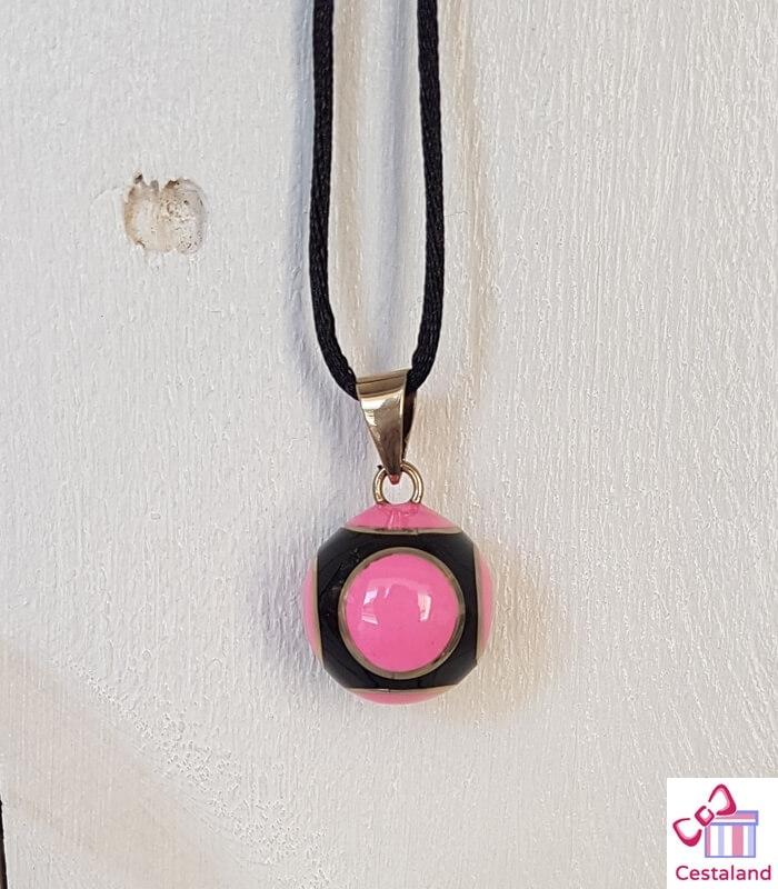 Llamador de ángeles Rosa y Negro. Bolas joyas para embarazadas. Regalos para embarazadas