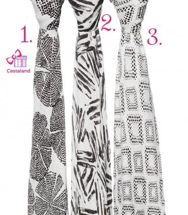 Muselina Bambú Blanco y negro Aden + Anais grande 120x120cm tacto seda. Comprar muselina bebé