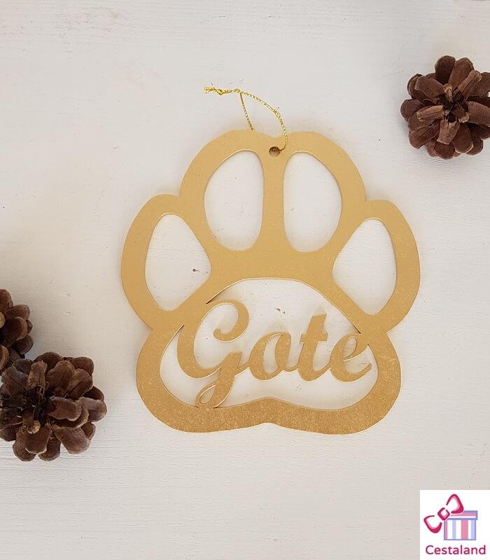 Bola Navidad Personalizada huella perro. Regalos para mascotas