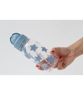 Botella reutilizable para niños con pajita