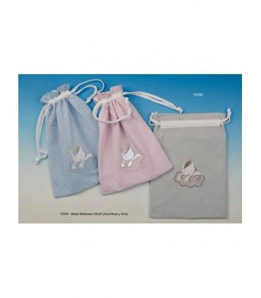 Bolsa merienda bordada personalizada unicornio. Comprar bolsa bebe bordada