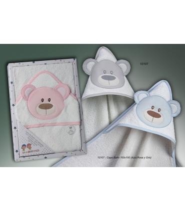 Capa Baño para Bebés 100% algodón oso con orejas. Comprar capa baño