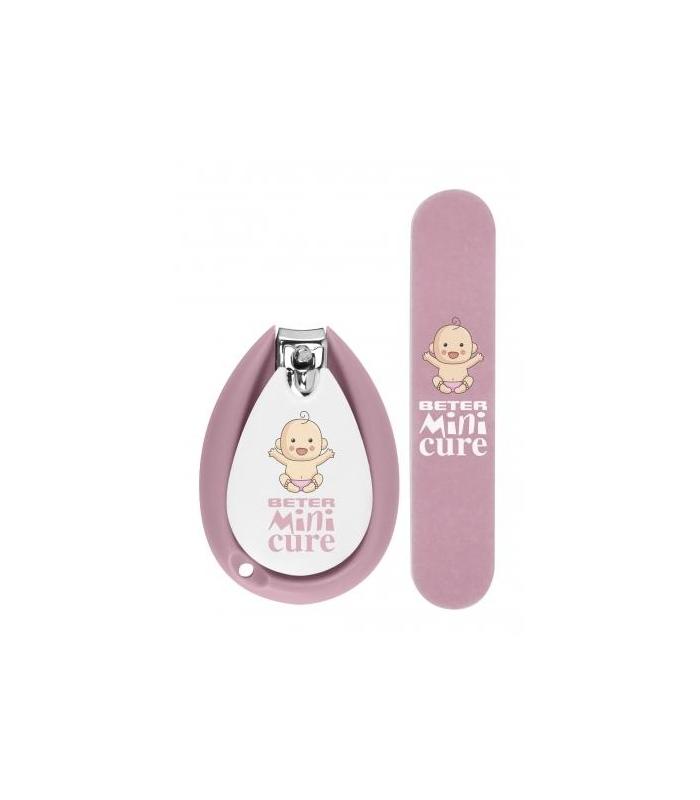 Set cortauñas para bebés y lima mini cure beter