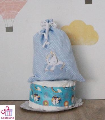 Tarta Pañales Unicornio mini. Comprar tartas de pañales