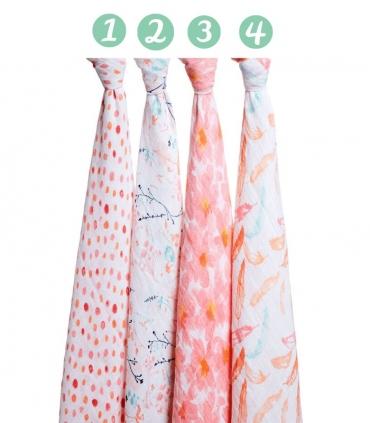 Muselina Aden + Anais grande 120x120cm algodón petal blooms. Comprar muselina bebé