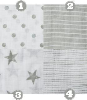 Muselina Aden + Anais grande 120x120cm algodón dusty. Muselina essential