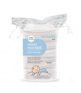 Gasas para bebé aposan