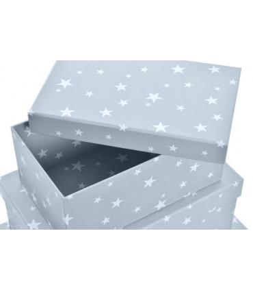 Cajas estrellas para regalos bebé. Canastillas personalizadas