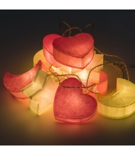 Guirnalda de luces para habitación de Bebé. Luces con formas infantiles.