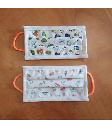 Mascarilla lavable niños de 3 a 5 años