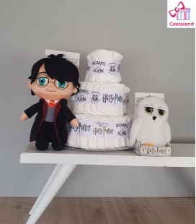 Tarta de pañales Harry Potter para bebés