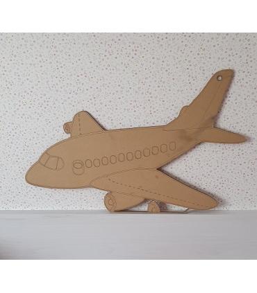 silueta de madera avión 70x43cm