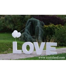 Letras love para bodas. Letras de madera.
