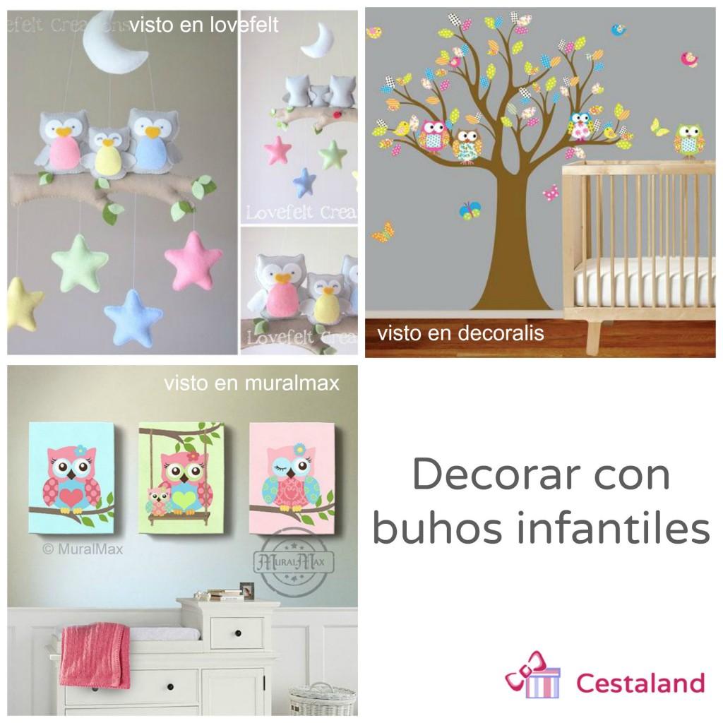 decorar con buhos infantiles