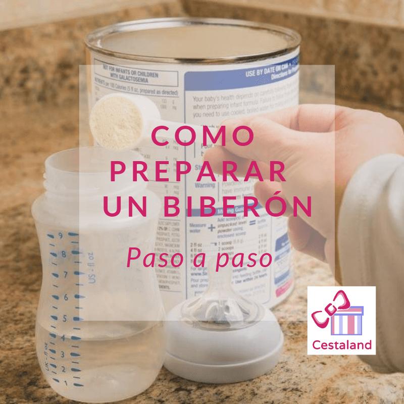 preparar biberones recien nacidos con formula y leche materna