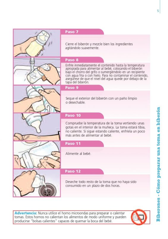 como preparar biberón para recién nacido