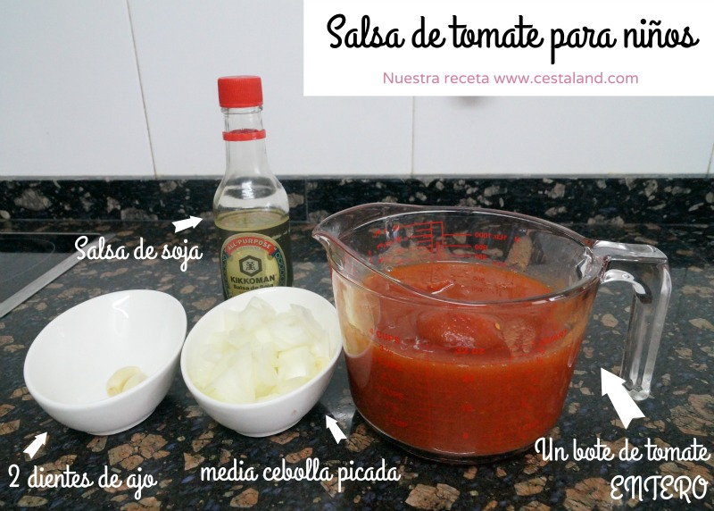 ingredientes salsa de tomate