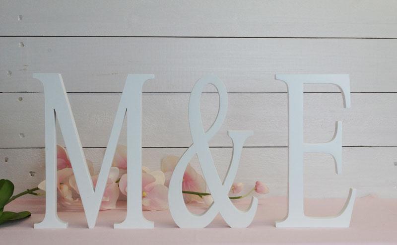 Iniciales y letras para bodas