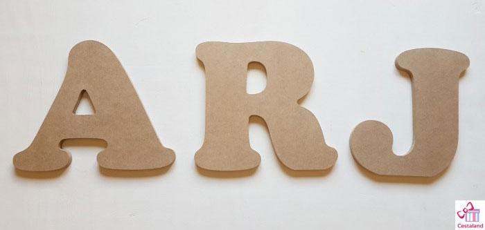Comprar letras para decorar con fotos