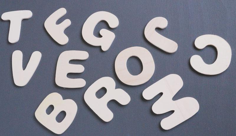letras para decorar sin pintar