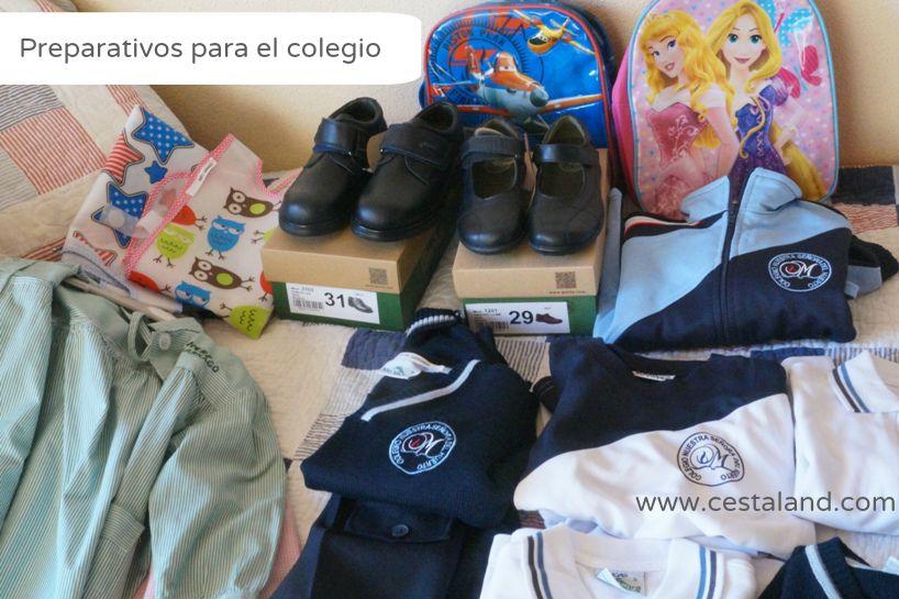 preparativos para el colegio